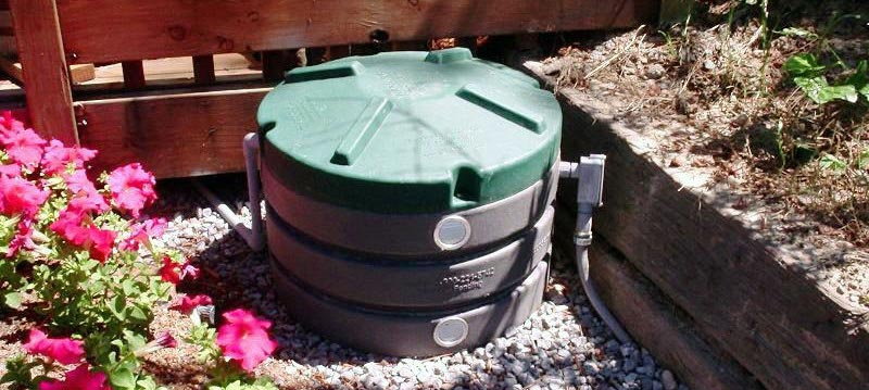 Close up of septic tank treatment system